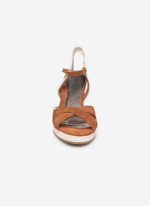 Espadrilles Les Tropéziennes par M Belarbi Ciara Marron vue portées chaussures