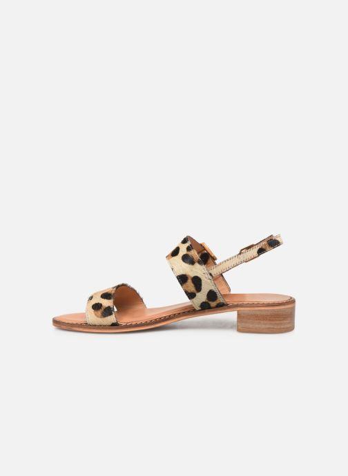 Sandals Les Tropéziennes par M Belarbi Hideo Beige front view