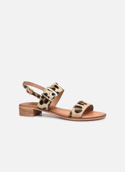 Sandales et nu-pieds Les Tropéziennes par M Belarbi Hideo Beige vue derrière