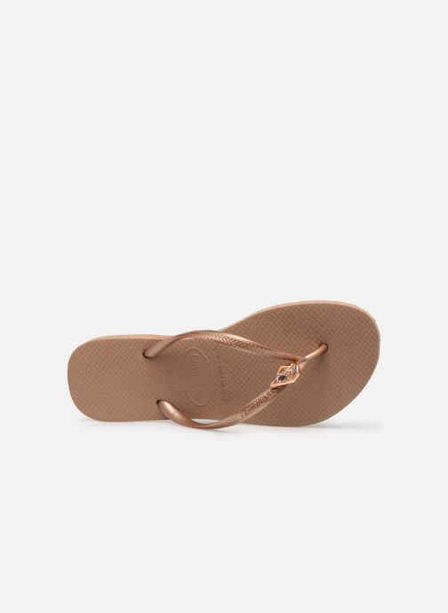 Zehensandalen Havaianas Slim Epic gold/bronze ansicht von links