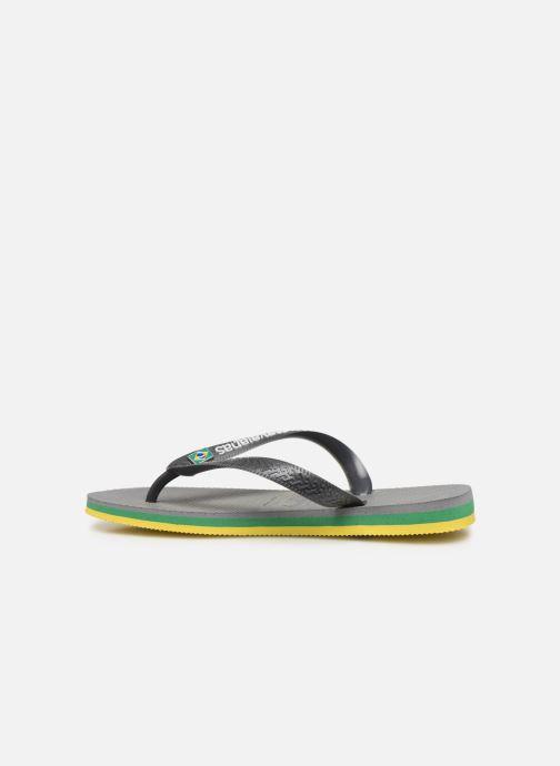 Slippers Havaianas Brasil Layers F Grijs voorkant