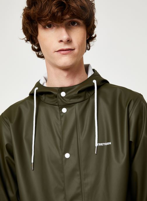 Vêtements Tretorn Wings Rainjacket M C Vert vue face