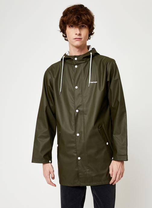 Vêtements Tretorn Wings Rainjacket M C Vert vue détail/paire