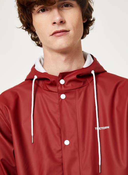 Vêtements Tretorn Wings Rainjacket M C Rouge vue face
