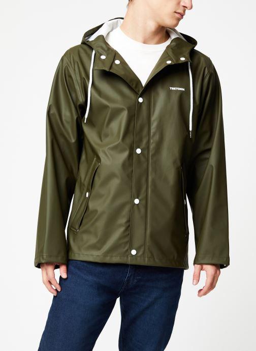 Vêtements Tretorn Wings Short Rain Jacket M C Vert vue droite