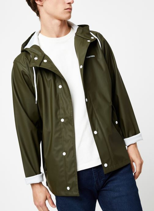Vêtements Tretorn Wings Short Rain Jacket M C Vert vue détail/paire