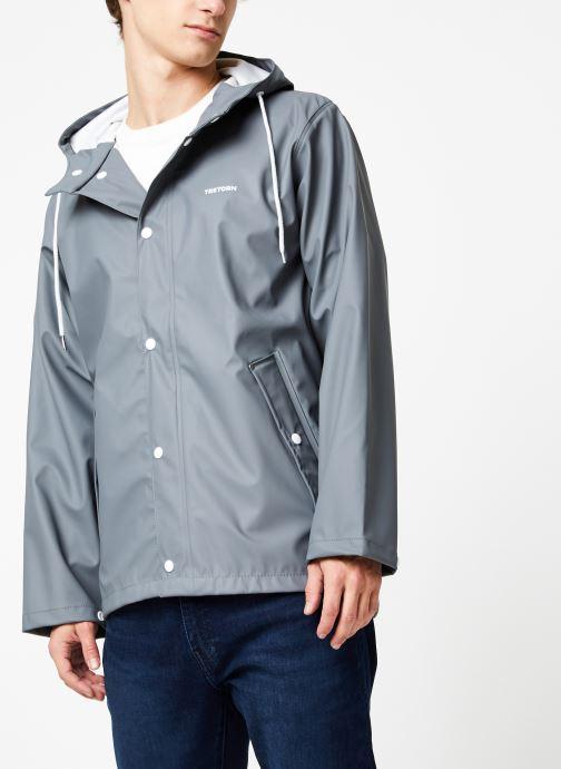 Vêtements Tretorn Wings Short Rain Jacket M C Gris vue droite