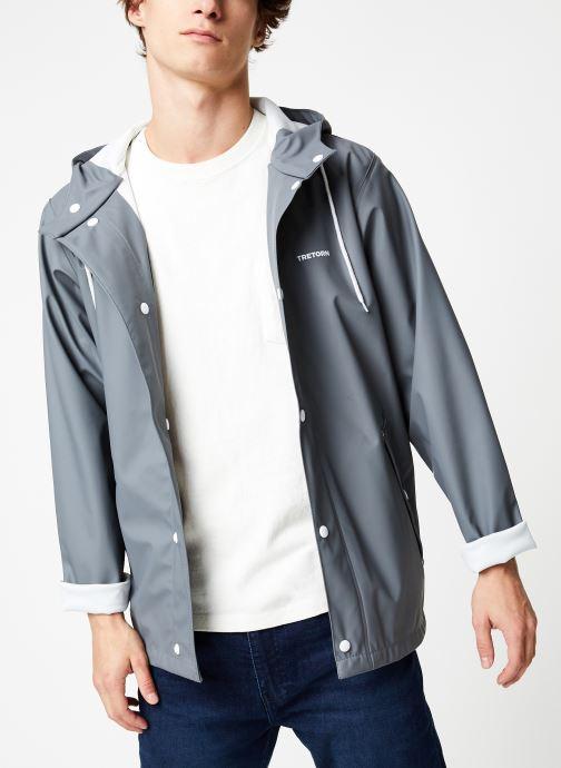 Vêtements Tretorn Wings Short Rain Jacket M C Gris vue détail/paire