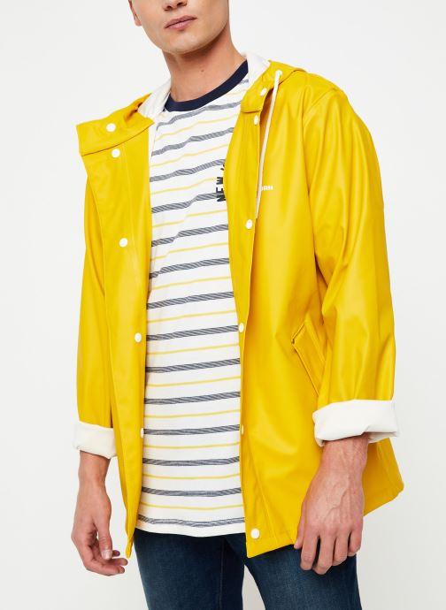 Vêtements Tretorn Wings Short Rain Jacket M C Jaune vue droite