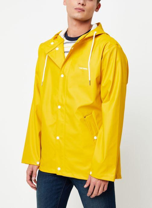 Vêtements Tretorn Wings Short Rain Jacket M C Jaune vue détail/paire