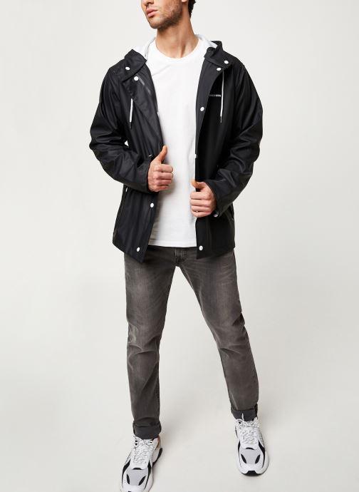 Vêtements Tretorn Wings Short Rain Jacket M C Noir vue bas / vue portée sac