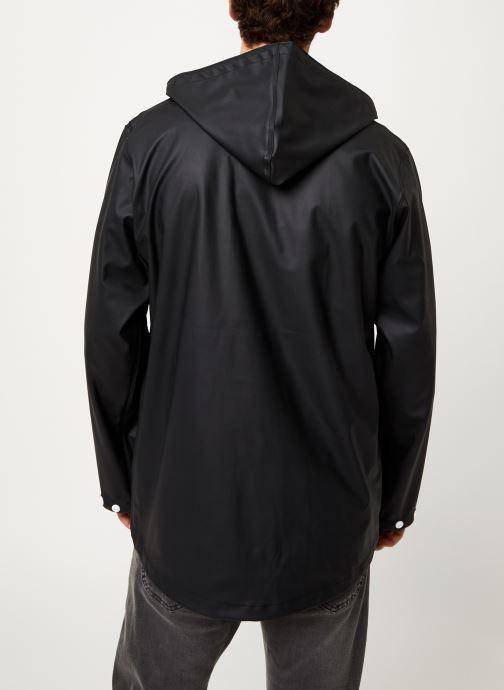 Vêtements Tretorn Wings Short Rain Jacket M C Noir vue portées chaussures