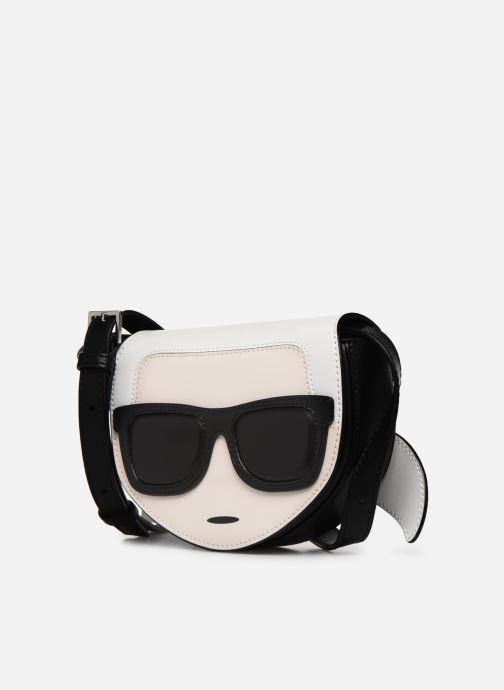 Petite Maroquinerie Karl Lagerfeld NYLON BUMBAG IKONIK Noir vue portées chaussures