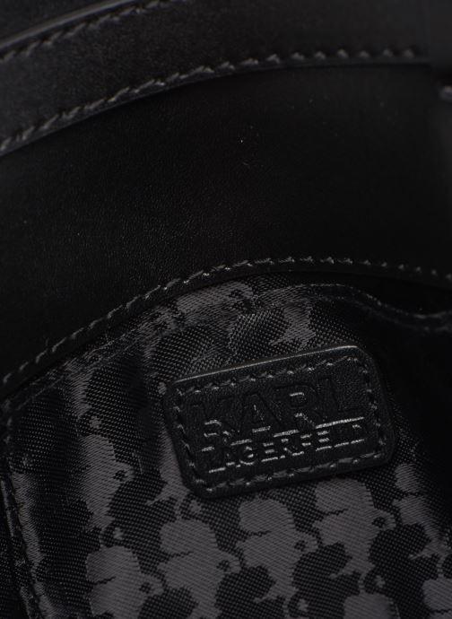 Kleine lederwaren Karl Lagerfeld NYLON BUMBAG IKONIK Zwart achterkant