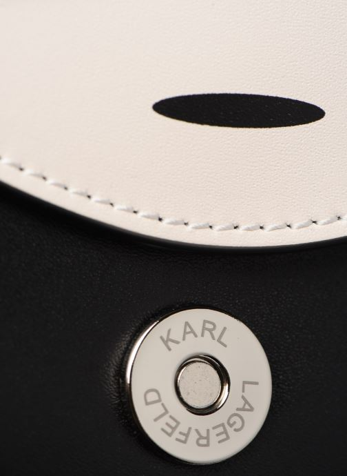 Kleine lederwaren Karl Lagerfeld NYLON BUMBAG IKONIK Zwart links