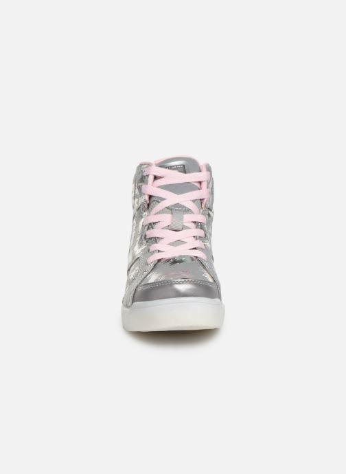 Sneakers Skechers E-Pro/Reflecti-Fab Argento modello indossato
