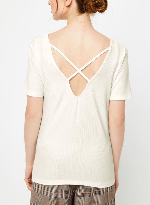 Vêtements Vila Vialbie T-Shirt Blanc vue portées chaussures