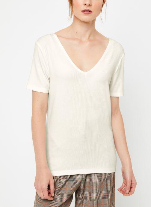 Vêtements Vila Vialbie T-Shirt Blanc vue droite