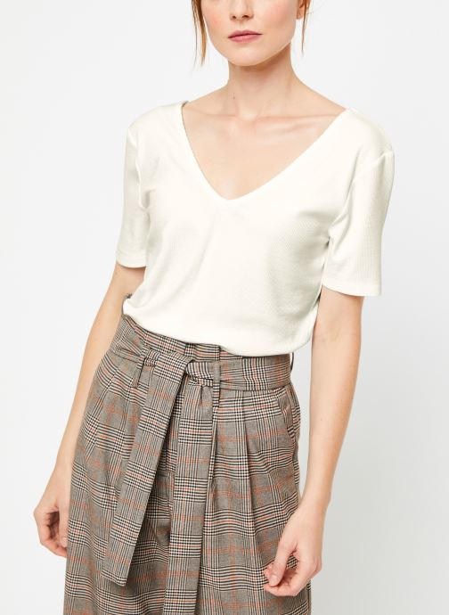 Vêtements Vila Vialbie T-Shirt Blanc vue détail/paire