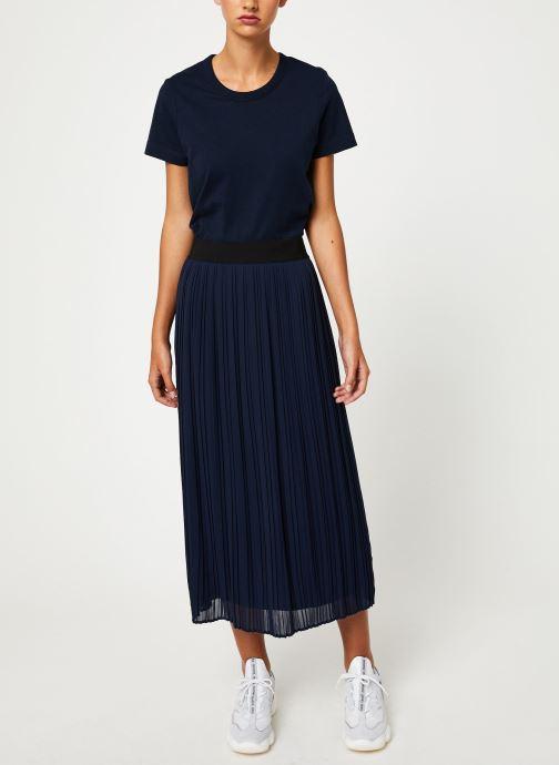 Vêtements Vila Vitysha Plisse Skirt Bleu vue bas / vue portée sac