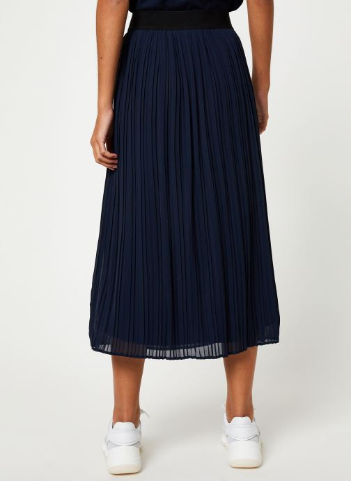 Vêtements Vila Vitysha Plisse Skirt Bleu vue portées chaussures