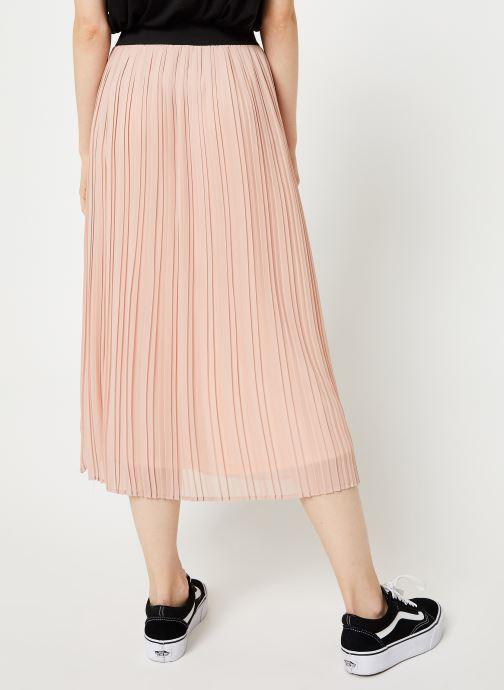 Vêtements Vila Vitysha Plisse Skirt Rose vue portées chaussures
