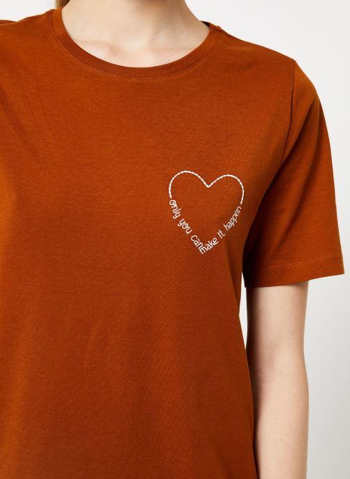 Tøj Vila Vievie T-Shirt Brun se forfra
