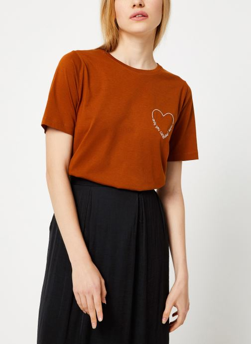 Tøj Vila Vievie T-Shirt Brun Se fra højre