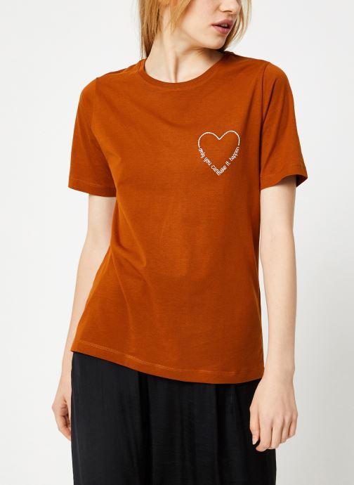Tøj Vila Vievie T-Shirt Brun detaljeret billede af skoene