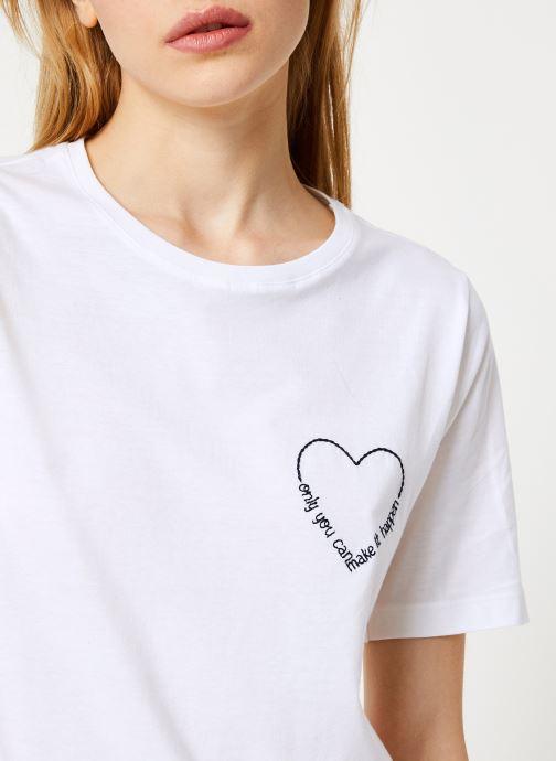 Kleding Vila Vievie T-Shirt Wit voorkant