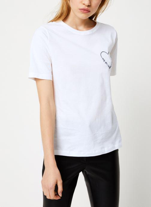 Kleding Vila Vievie T-Shirt Wit rechts