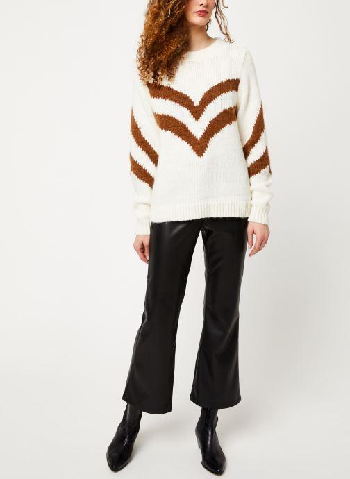 Vêtements Vila Vishevra Knit Top Blanc vue bas / vue portée sac