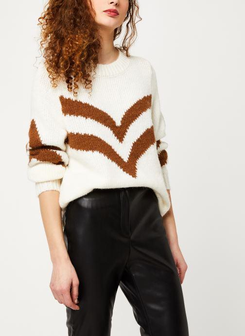 Vêtements Vila Vishevra Knit Top Blanc vue détail/paire