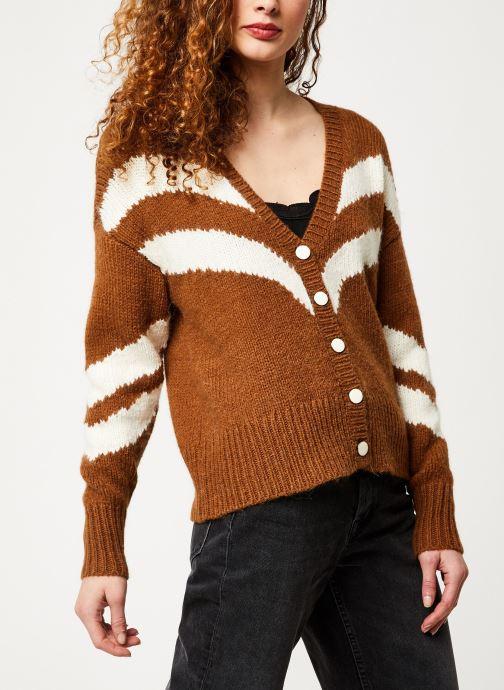 Vêtements Vila Vishevra Knit Cardigan Marron vue détail/paire