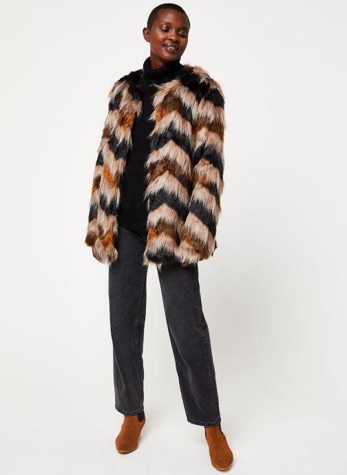 Vêtements Vila Vilexia Faux Fur Jacket Marron vue bas / vue portée sac