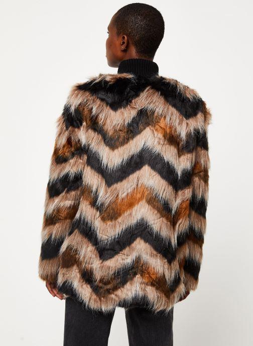 Vêtements Vila Vilexia Faux Fur Jacket Marron vue portées chaussures