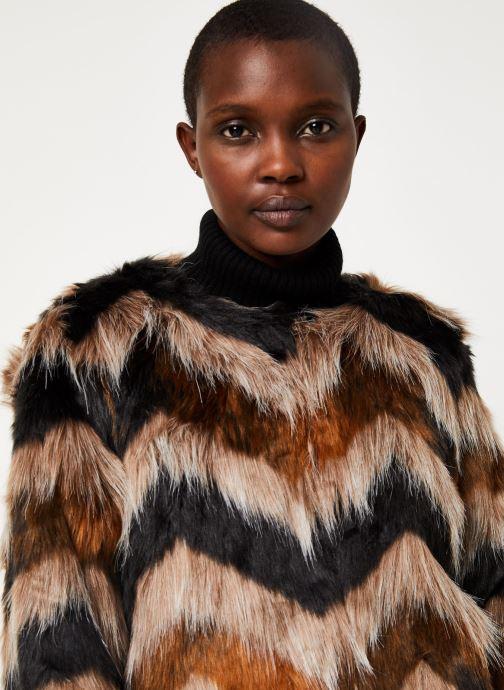 Vêtements Vila Vilexia Faux Fur Jacket Marron vue face