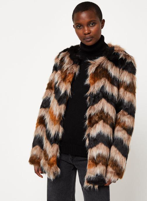 Vêtements Vila Vilexia Faux Fur Jacket Marron vue droite