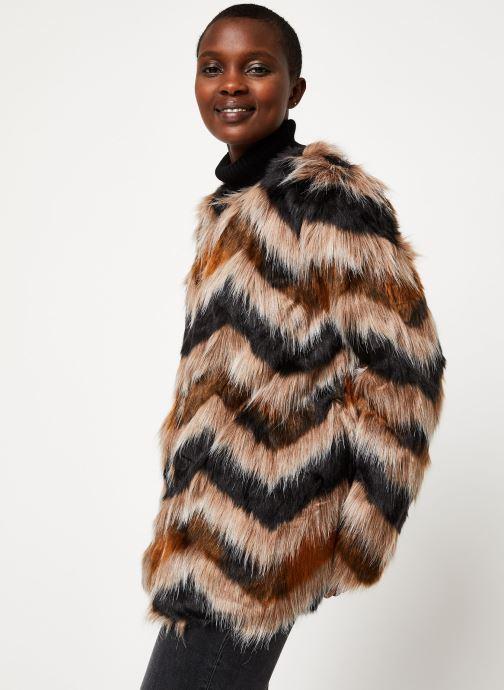 Vêtements Vila Vilexia Faux Fur Jacket Marron vue détail/paire