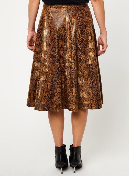 Vêtements Vila Vipines Skirt Marron vue portées chaussures