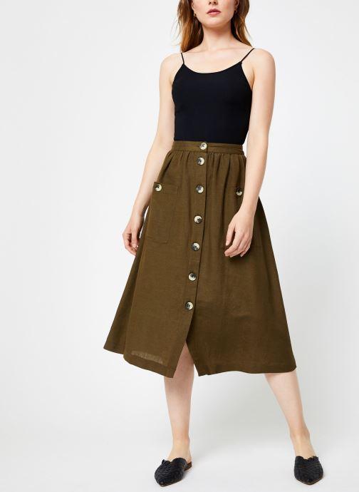 Vêtements Y.A.S Yasdalia Medi Skir Vert vue bas / vue portée sac