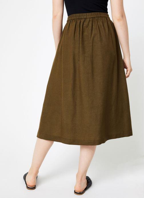 Vêtements Y.A.S Yasdalia Medi Skir Vert vue portées chaussures