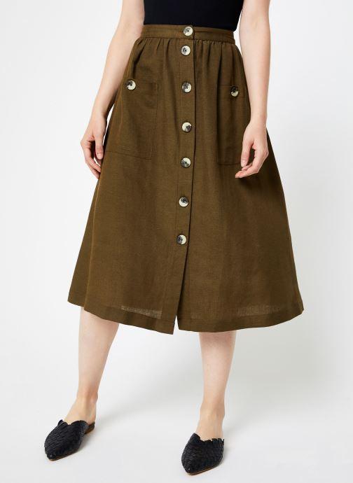 Vêtements Y.A.S Yasdalia Medi Skir Vert vue détail/paire