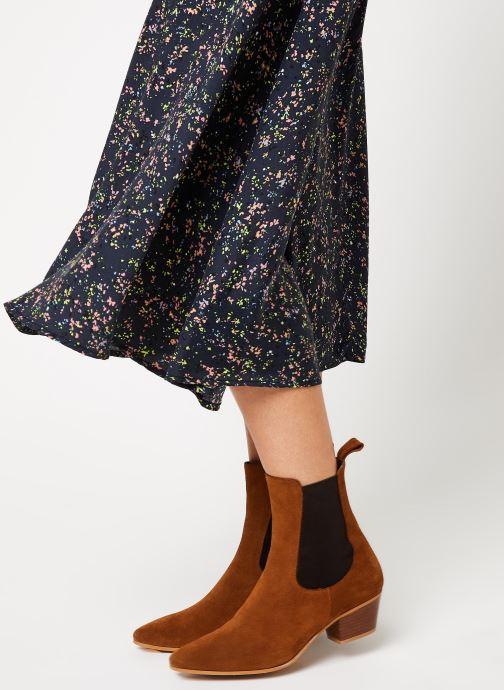 Vêtements Y.A.S Yaslandy Hw Midi Skirt Noir vue face