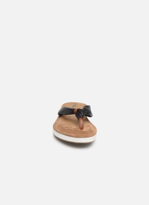 Tongs Tamaris Black Nut New Noir vue portées chaussures