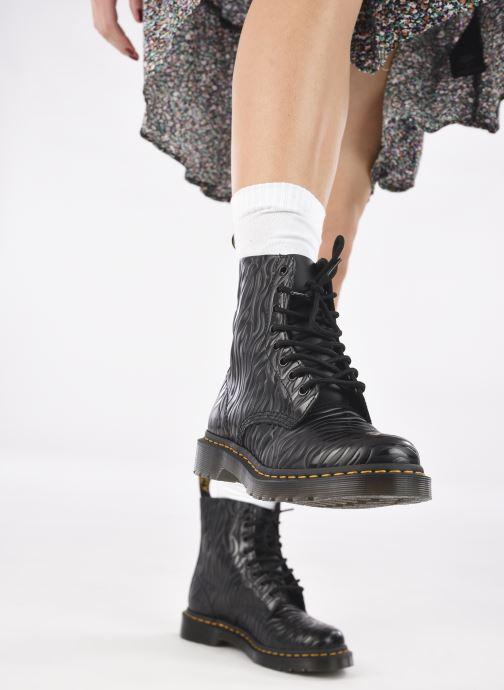 Bottines et boots Dr. Martens 1460 Pascal W Noir vue bas / vue portée sac