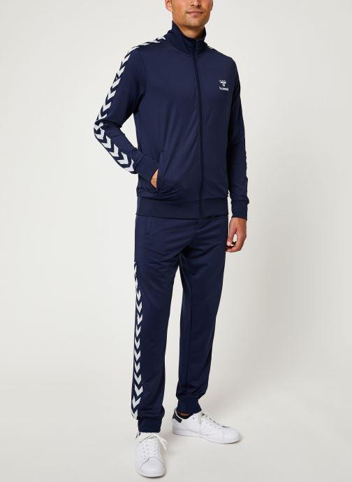 Vêtements Hummel Hmlnathan Zip Jacket - Selectionné par Mister V - Bleu vue bas / vue portée sac