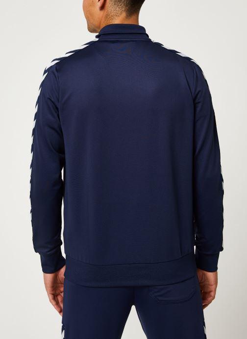 Vêtements Hummel Hmlnathan Zip Jacket - Selectionné par Mister V - Bleu vue portées chaussures