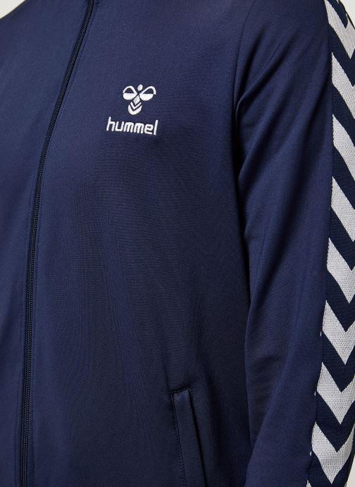 Vêtements Hummel Hmlnathan Zip Jacket - Selectionné par Mister V - Bleu vue face
