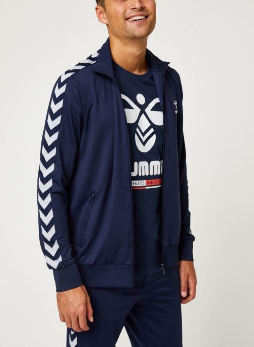 Vêtements Hummel Hmlnathan Zip Jacket - Selectionné par Mister V - Bleu vue droite